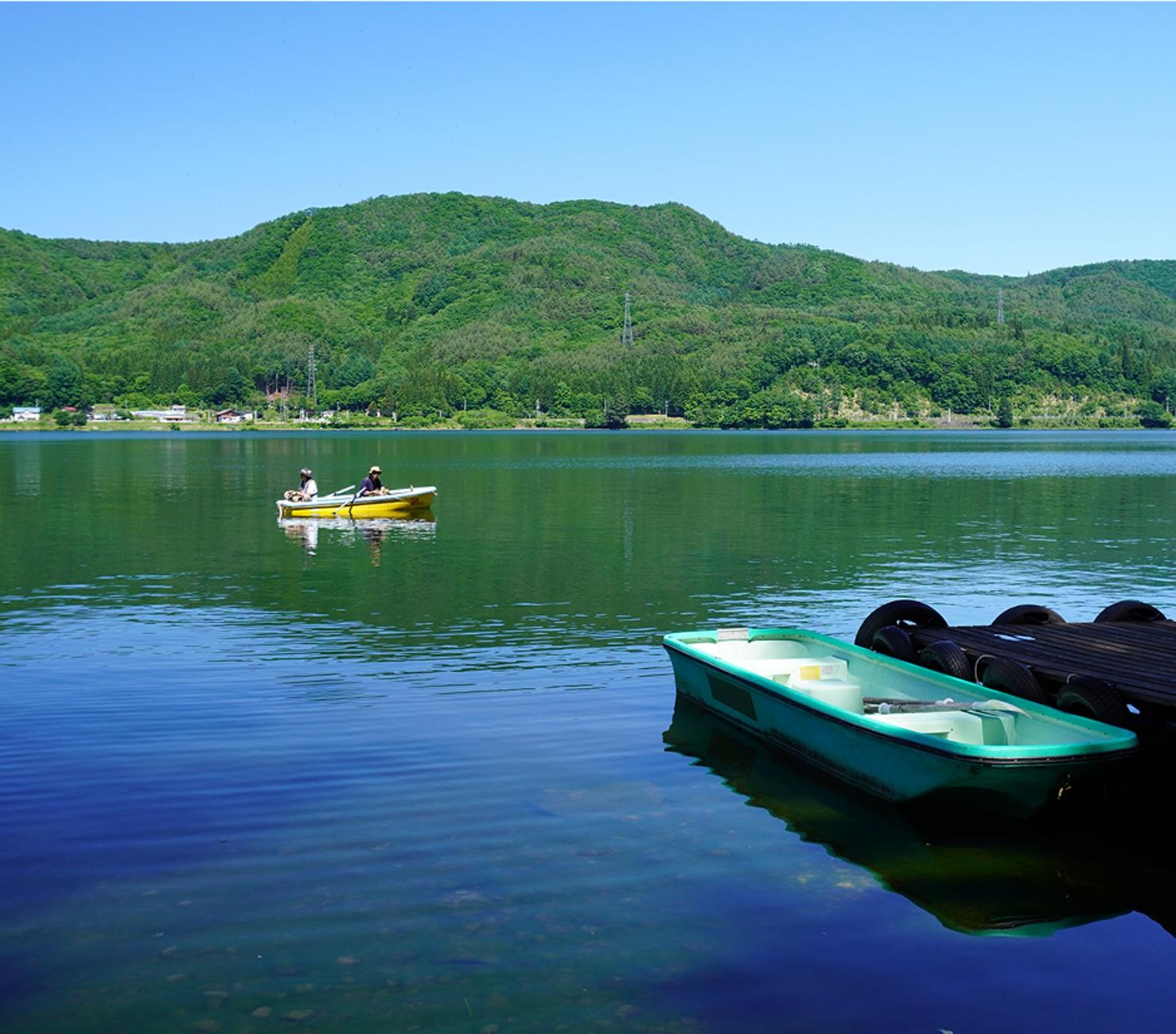 木崎湖 手漕ぎボート 釣り